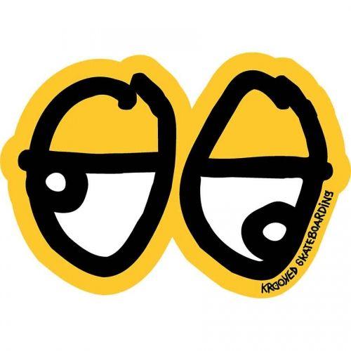 Krooked Skateboards <br> Krooked Lazy Eyes Sticker - Medium