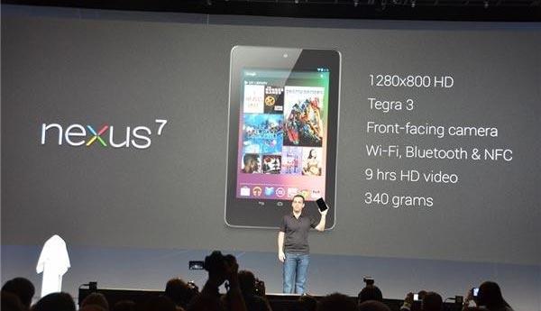 Características de la tablet Nexus 7 de Google