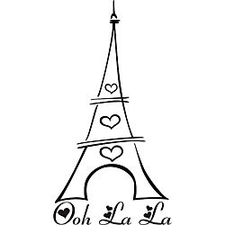 'Ooh La La Eiffel Tower' Vinyl Wall Art | Overstock.com Shopping - The Best Prices on Vinyl Wall Art
