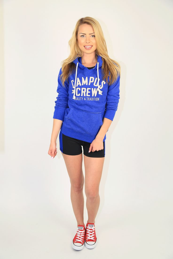 PRODUCT DESCRIPTION:  Super-Soft Popshop Hoodie from Campus Crew is 60% Cotton, 40% Polyester, Soft-Washed, Featuring embroidered Campus Crew graphic, lined hood with natural drawstrings, front pouch pocket, rib v-insert detail, thumbholes on cuffs, set-in sleeves and natural herringbone back&  PRODUCT COMPOSITION:  60% cotton, 40% polyester