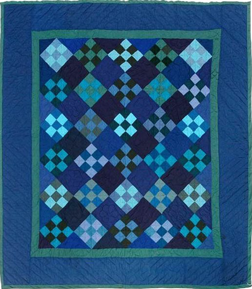 Amish quilt from early 20th Century - from Barbara Brackman's MATERIAL CULTURE