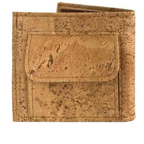 Cork Mens Wallet with Coins Holder