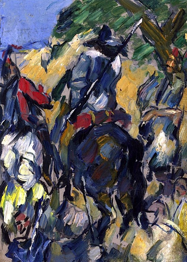 Don Quijote, Seen from the Rear Paul Cezanne - circa 1875