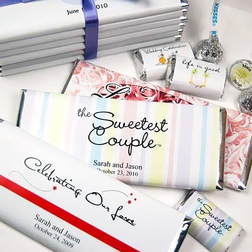 Chocolate Candy Bar Wedding Favors