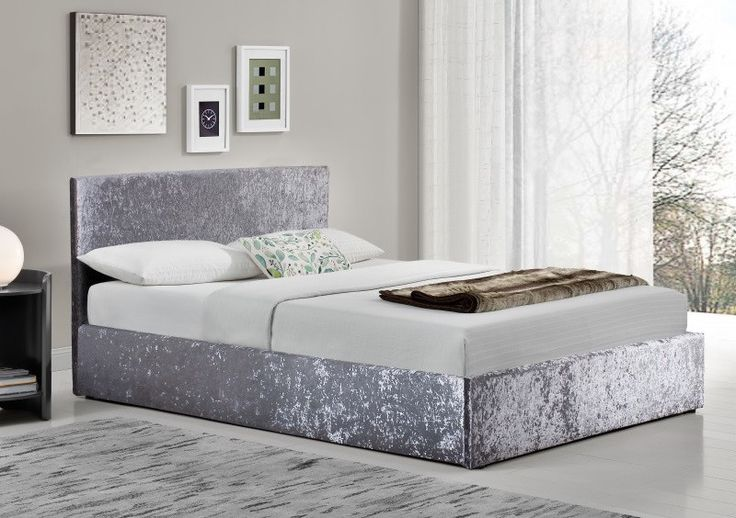 * Sale * Birlea Berlin Velvet Ottoman Bed From £210 Free Next Day Delivery