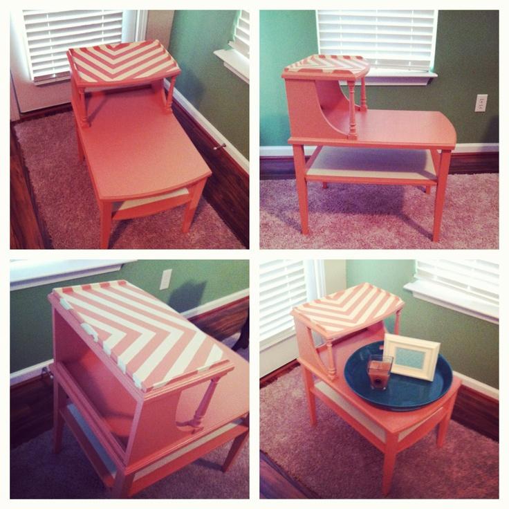 DIY chevron furniture