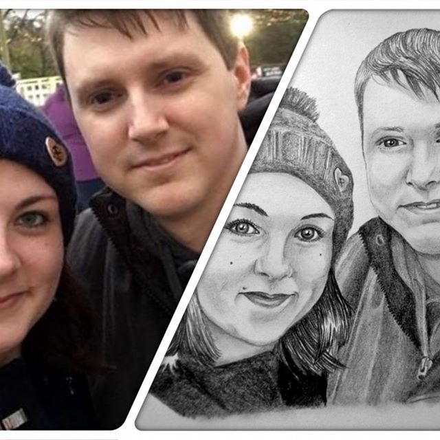 #photocomparison #couple #portrait #sketch #drawing #pencil #love #relationshipgoals #arts_help #artistic_share #art_4share #smallbusiness #blending #arts_unite #artistsoninstagram #artists #doodle #iloveart #instagood #instalike #instacool