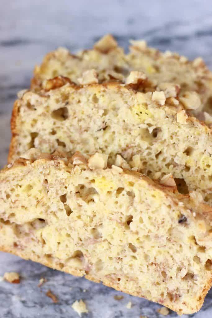Gluten Free Vegan Banana Walnut Bread Rhian S Recipes Banana Walnut Bread Vegan Baking Recipes Banana Walnut