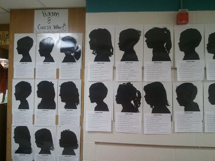 Guess Who Silhouettes for Parent Teacher Conferences