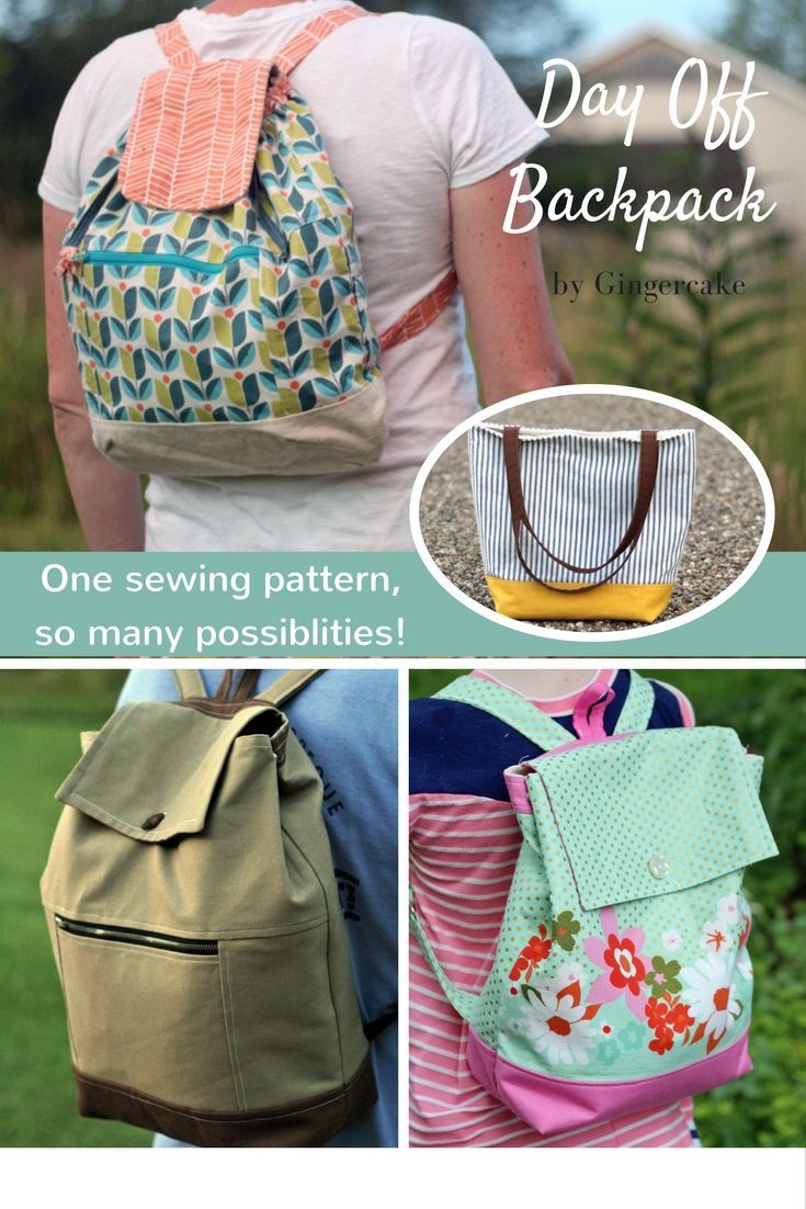 518 best sewing images on pinterest sew mama sew sewing tips day off back pack pdf sewing pattern adult and child size new jeuxipadfo Choice Image