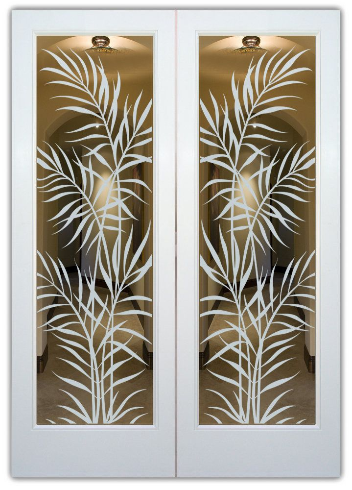 Frosted glass creates a beautiful look for any door! Select from dozens of sandblast etched obscure glass designs!  Sans Soucie creates their interior glass door designs thru sandblasting the glass in different ways which create not only different levels of privacy, but different levels in price.  Bathroom doors, laundry room doors and glass pantry doors with frosted glass designs by Sans Soucie become the conversation piece of any room.   Choose from the highest quality and largest…