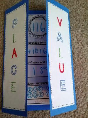 Place Value Foldable...one of WEEKS worth of differentiated guided math rotations for place value!! $4.00
