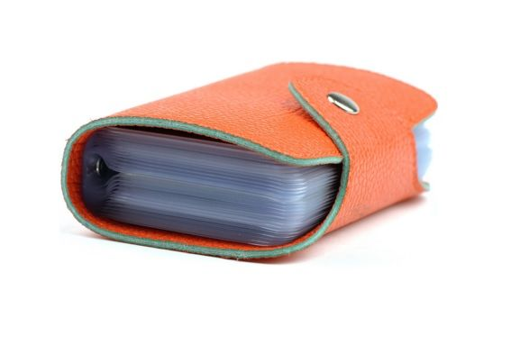 Orange Colour PU Women Cardholder with Magnet Closing