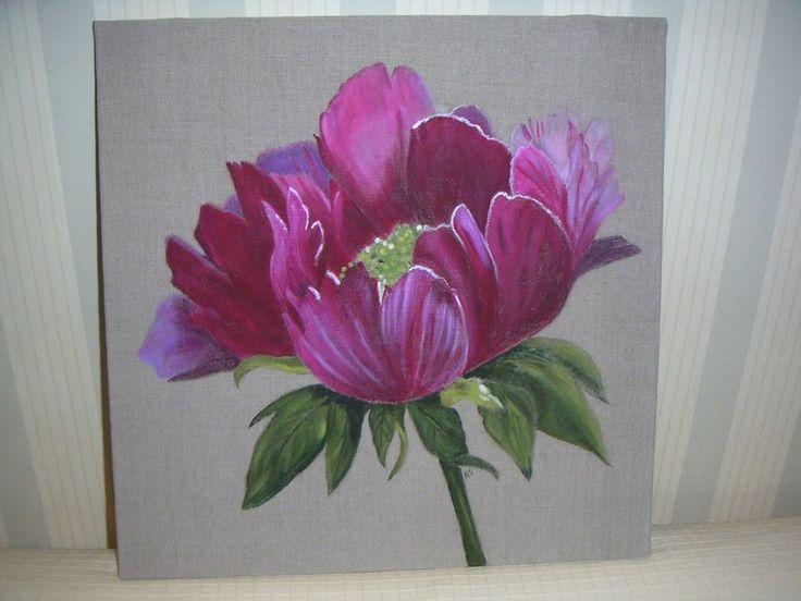 17 meilleures id es propos de fleur toile de peinture sur pinterest fleurs peintes fleurs. Black Bedroom Furniture Sets. Home Design Ideas