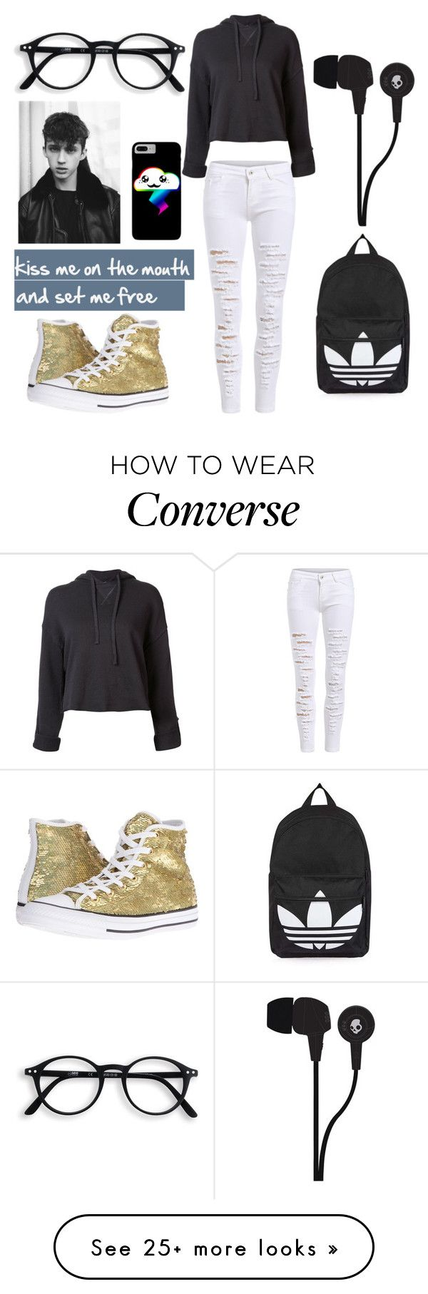 """nope"" by xx-secret-xx on Polyvore featuring Topshop, R13, Converse and Skullcandy"
