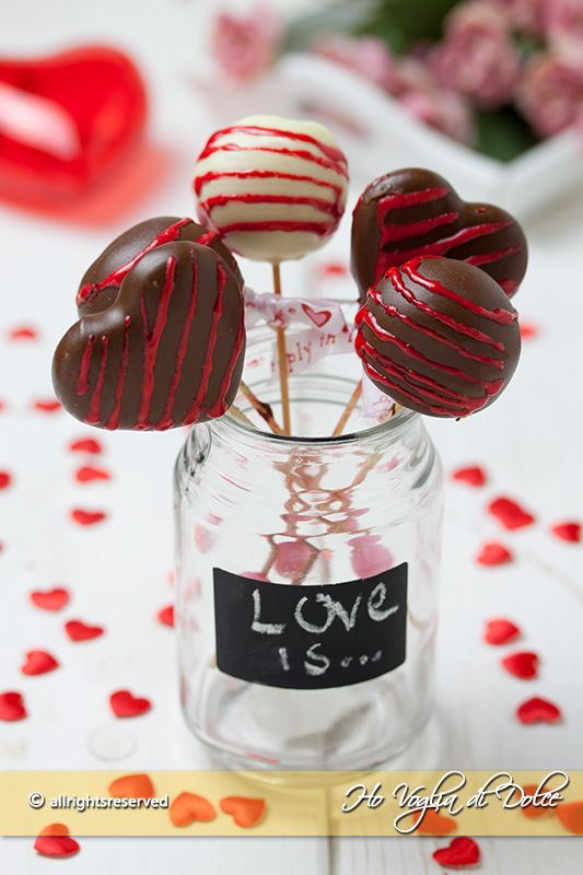 Cake pops di San Valentino, Ricette Kawaii *-*