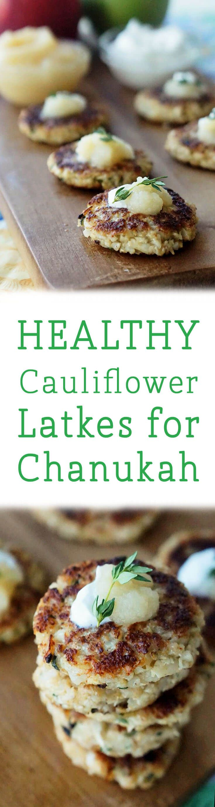 These healthy Cauliflower latkes are a great healthy option for your annual Chanukuh celebrations!