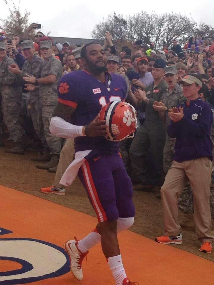 Clemson QB Tajh Boyd runs down the hill for the last time. You will be missed. 11/23/13