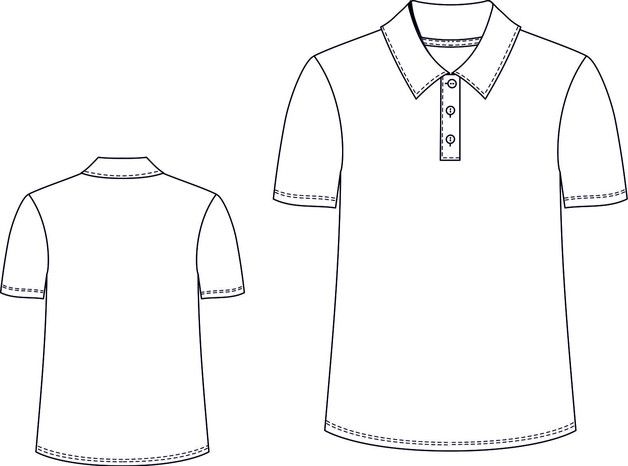 Schnittmuster Herren Poloshirt