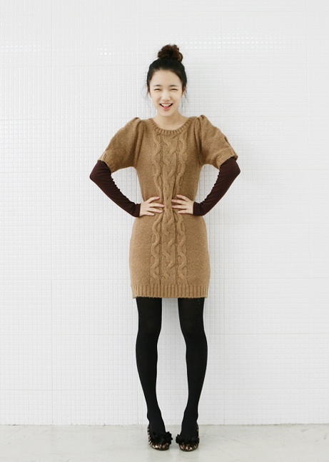 sweater dress, a must have item!!! >.< see more on thehallyu.com