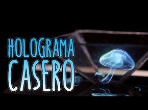 Cómo hacer un holograma casero para el móvil o celular (Experimentos Caseros) - YouTube