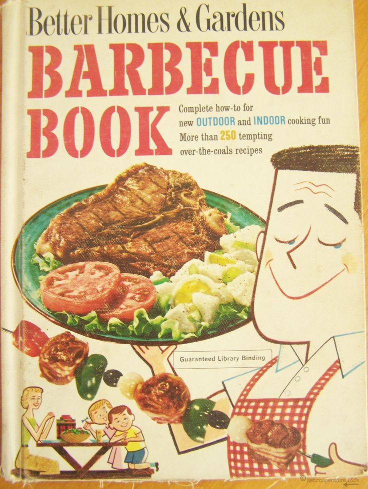 """Vintage 1959 Better Homes & Gardens Barbecue Book – Library Binding – Over 250 """"Tempting Over-the-Coals Recipes"""" - Awesome Retro Cook Book by RetrospectiveLife on Etsy"""
