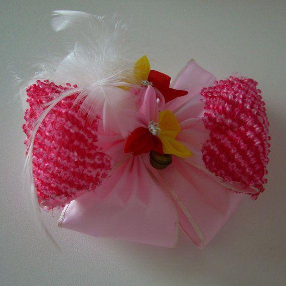 Girl's kanzashi hair ornament, traditional Japanese hair accessory, flower girl hair pin