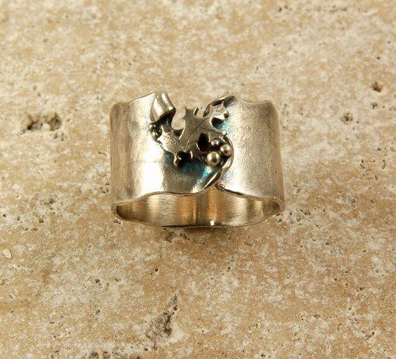 Nordic Oak Leaf Ring by ElentariHandverk on Etsy