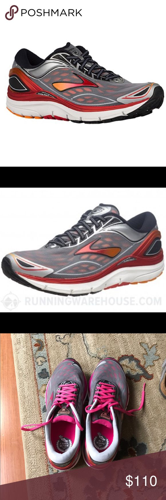 Brooks sneakers Brand new retail for $169.  These women's running shoes are our most cushioned style with great support. Perfect for the runner who may pronate, this shoe goes even further, addressing how the entire body moves. ... The Transcend 3 is our most technically-advanced running shoe for women, so go ahead—safely .. Brooks Shoes Sneakers