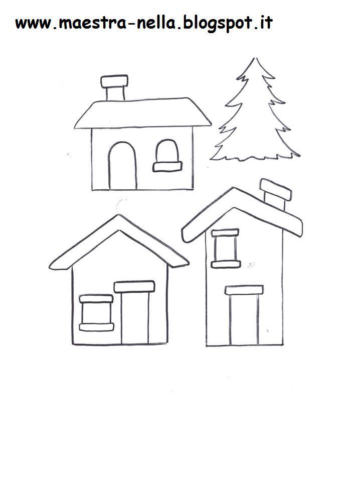Nevica     Sopra i tetti, sulle strade  piano piano, lieve lieve  cade giù la bianca neve.  Danza, scherza, su nell'aria,  si rincorre, si...