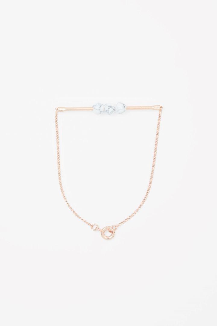 COS | Metal bar and bead bracelet