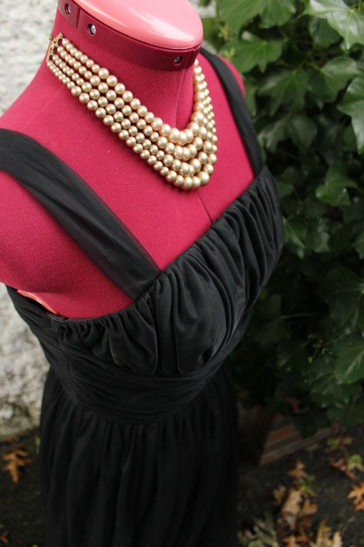1950's Elizabeth Miller Black Formal Gown by LennysVintageVault on Etsy