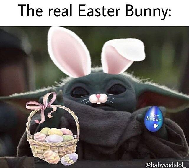 1 308 Likes 13 Comments Baby Yoda Memes Babyyodamemes On Instagram Facts Babynutmeme Easter Humor Easter Quotes Funny Real Easter Bunny