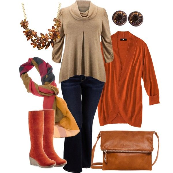 """""""Perfect, easy to wear fall fashion for Thanksgiving."""""""