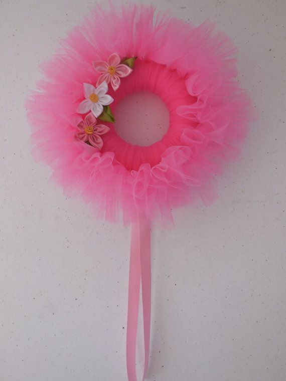 fiocco nascita ghirlanda rosa di fiocchinascitajolie su Etsy
