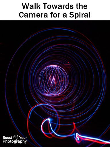 Light Painting: How to Spin an Orb | Boost Your PhotographyOr, walk towards the camera to create a spiral effect