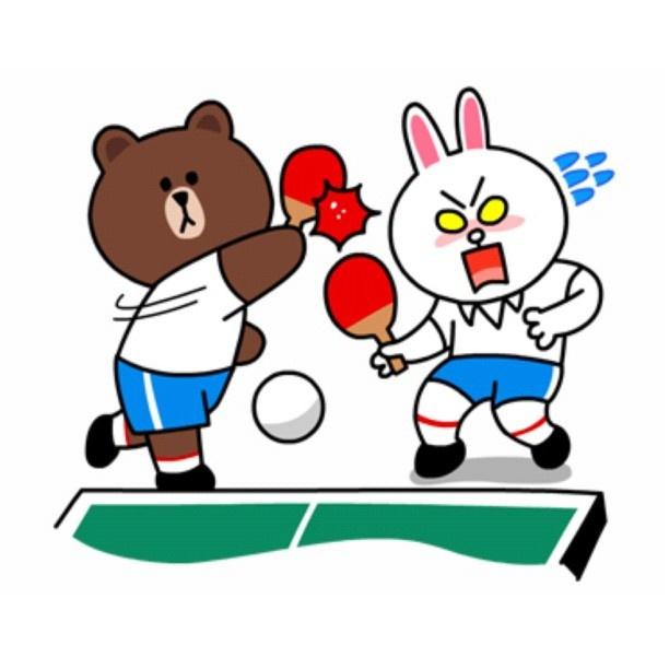Brown & Cony PingPong | # CUTE # CHARACTER # CARTOON ...