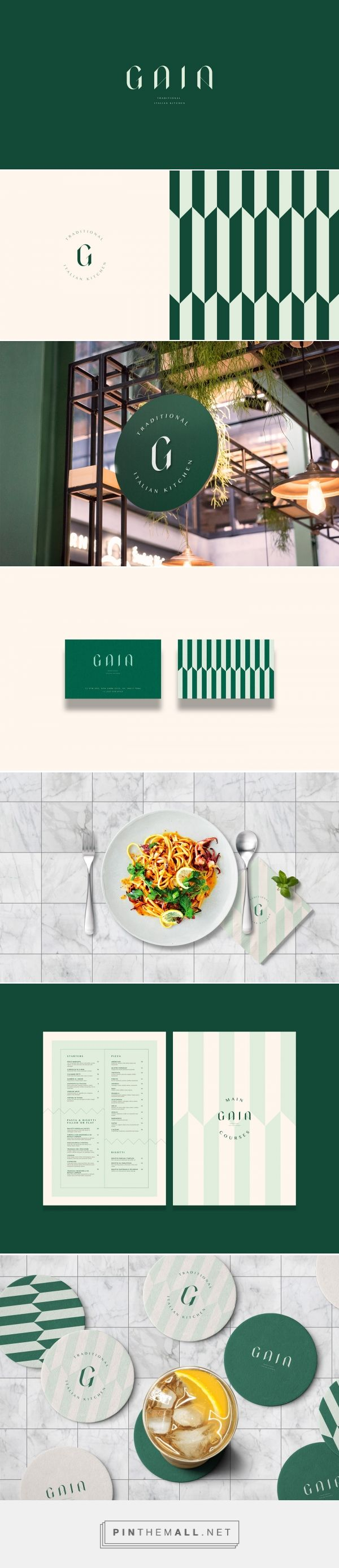 Gaia Traditional Italian Restaurant Branding and Menu Design by Marka Network | Fivestar Branding Agency – Design and Branding Agency & Curated Inspiration Gallery