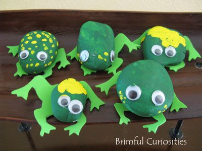 Brimful Curiosities: City Dog, Country Frog by Mo Willems Book Review & a Painted Rock Frog Craft
