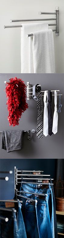 IKEA Fan Favorite: GRUNDTAL towel holder. Our fans love to use this product for towels in the bathroom, garage or laundry room. It is also a great solution for pants, ties and jewelry in the bedroom!