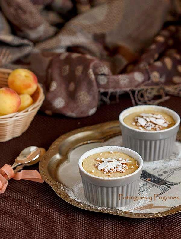 POTINGUES Y FOGONES: Pudin de requesón y albaricoque con salsa toffe