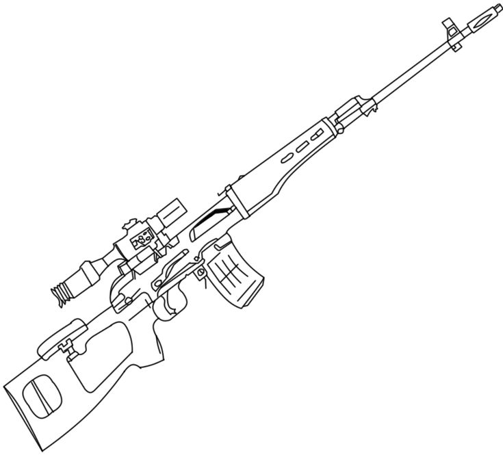 Sniper nerf gun coloring pages 2019 guns military drawings weapon concept art - Coloriage de arme ...