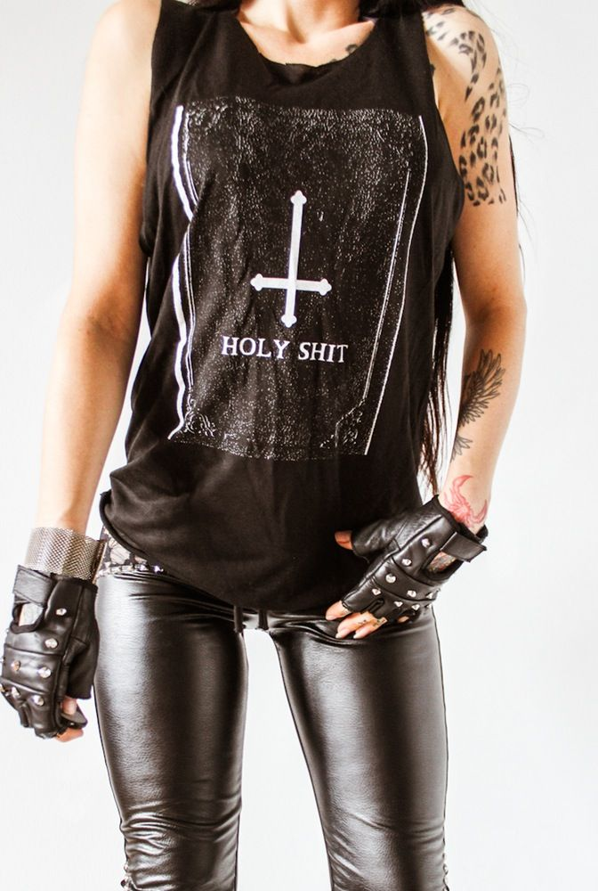 Image of TOXIC VISION unisex Holy Shit tank top ALL SIZES 9