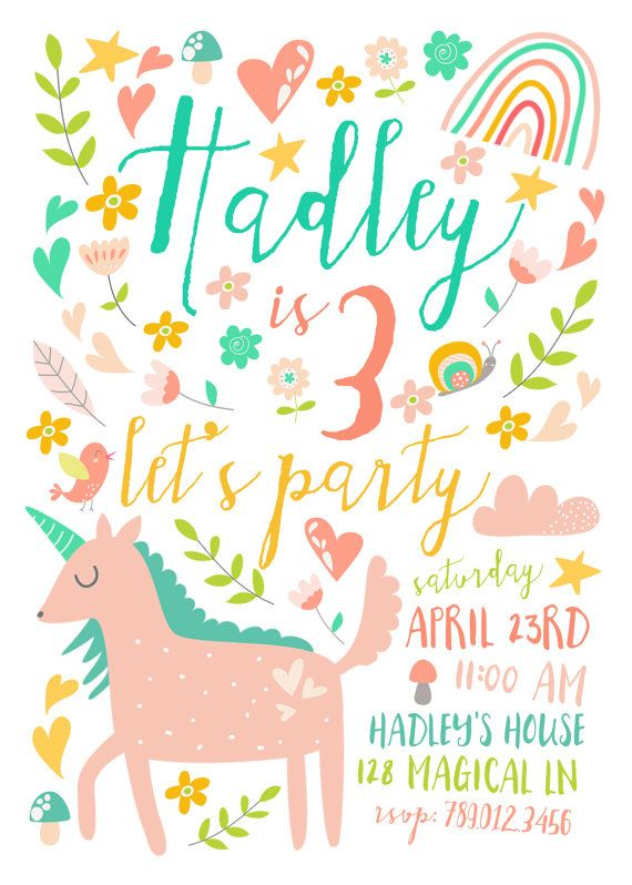 25 best ideas about Custom party invitations – Invites Birthday Party