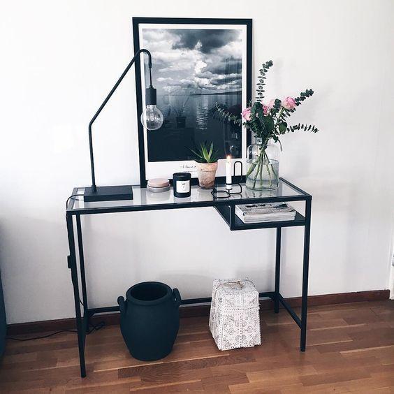 vittsj belle allt milli himins og jarar desks ikeadesk inspirationhallway ideasikea - Ikea Computer Desk Ideas