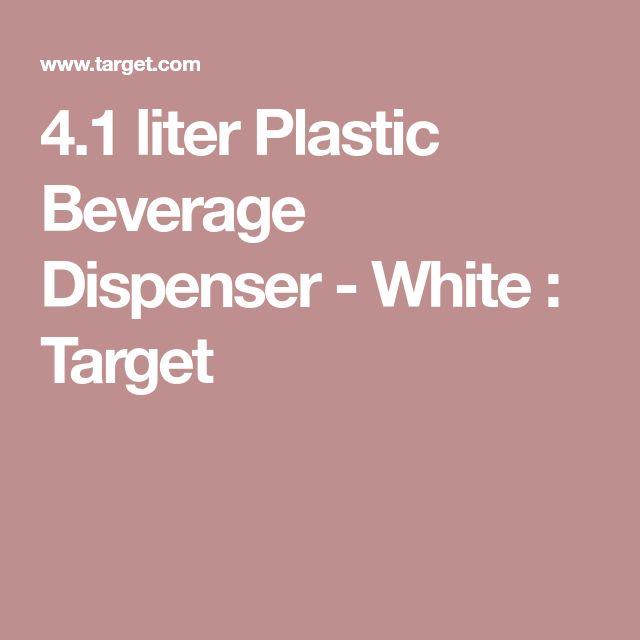 4.1 liter Plastic Beverage Dispenser - White : Target