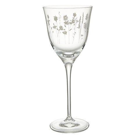 Buy John Lewis Leckford Floral White Wine Glass Online at johnlewis.com