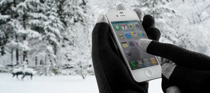 Get yourself a pair of smartphone gloves @ebay that keep you warm and make productivity easy.
