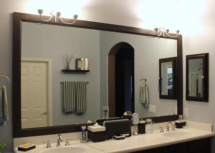 Framed Mirrors For Bathrooms Diy