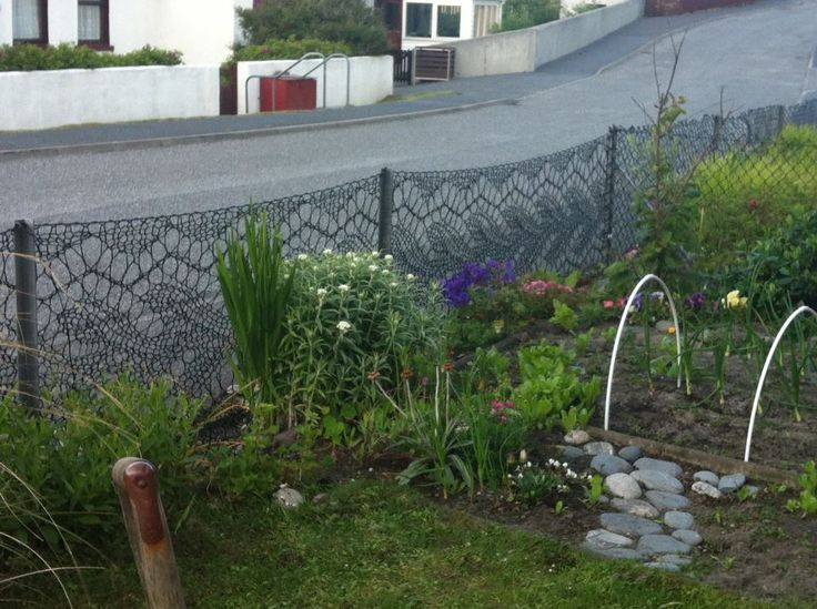 Amazing knitted fence
